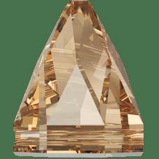 Swarovski 3297 Round Spike Sew-on 7 x 7 mm, Crystal Golden Shadow