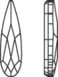 Swarovski 2304 Raindrop, 6 x 1,7 mm, Crystal AB, 10 stk.