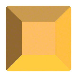 Swarovski 2400 Square, Crystal Aurum, 4 mm, 10 stk.
