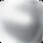 Swarovski 2408/4 Cabochon Square, Crystal Nacre HF, 6 mm.