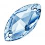 Preciosa Navette 18 x 9 mm, Light Sapphire