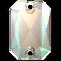 Swarovski 3252 Emerald Cut 14 x 10 mm, Crystal AB