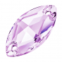 Preciosa Navette 18 x 9 mm, Light Amethyst