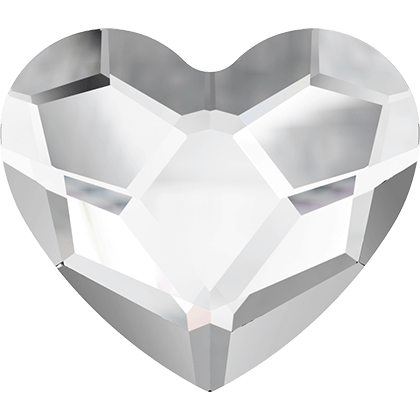Swarovski 2808 Heart, Crystal, 3,6 mm, 10 stk.