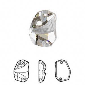 Swarovski 3257 Divine Rock 27 x 19 mm, Crystal Silver Shade