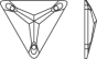 Swarovski 3270 Triangle 16 mm, Crystal
