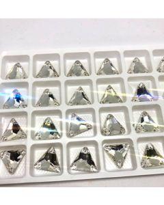 AURORA A3270 Triangle sew-on, 12 mm, Crystal