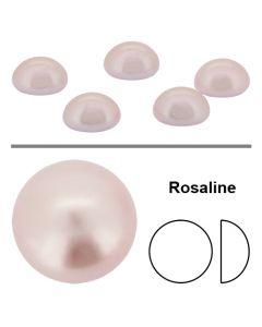 Preciosa flatbackperle 7 mm, Rosaline