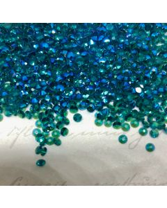 Swarovski 2058 Blue Zircon Shimmer Unfoiled