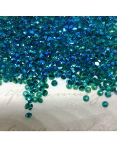 Swarovski 2058, Blue Zircon Shimmer Unfoiled