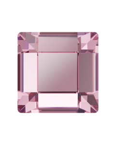Swarowski 2400 Square 3 mm (mini-flatbacks), Light Rose, 10 stk.