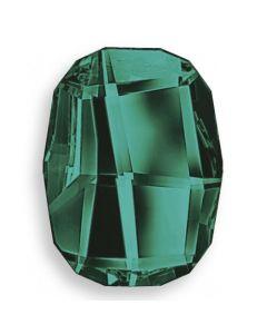Swarovski 2585 Graphic FB, Emerald, 14 mm, 1 stk.