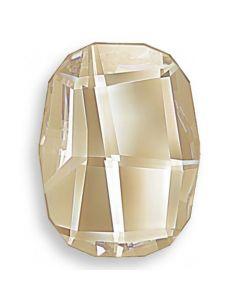 Swarovski 2585 Graphic FB, Crystal Golden Shadow, 10 mm, 1 stk.