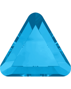 Swarovski 2711 Triangle mini-flatback, Aquamarine, 3,3 mm, 10 stk.