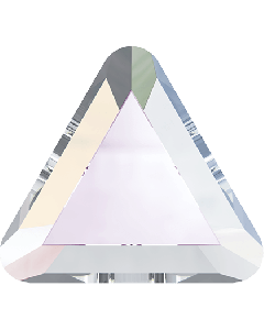 Swarovski 2711 Triangle mini-flatback, Crystal AB 3,3 mm, 10 stk.