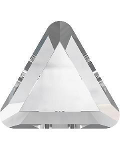 Swarovski 2711 Triangle mini-flatback, Crystal 3,3 mm, 10 stk.