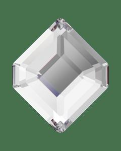 Swarowski 2777 Concise Hexagon 6,7 mm, Crystal, 10 stk.