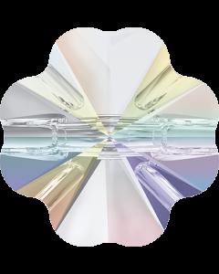 Swarovski 3011 Clover Crystal Button, 12 mm, Crystal AB
