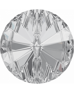 Swarovski 3015 Rivoli Crystal Button, 10 mm, Crystal
