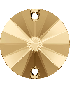 Swarovski 3200 Rivoli, Crystal Golden Shadow, 12 mm