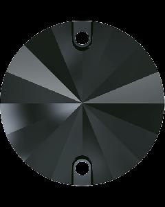 Swarovski 3200 Rivoli, Jet Hematite, 12 mm