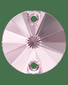 Swarovski 3200 Rivoli, Light Rose, 14 mm