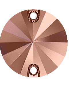 Swarovski 3200 Rivoli, Crystal Rose Gold, 14 mm