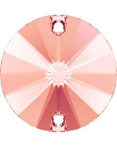 Swarovski 3200 Rivoli, Rose Peach, 12 mm.