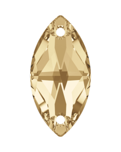 Swarovski 3223 Navette, 18 x 9 mm, Crystal Golden Shadow