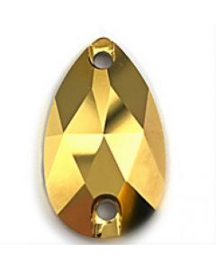 Swarovski 3230 Drop, Crystal Aurum