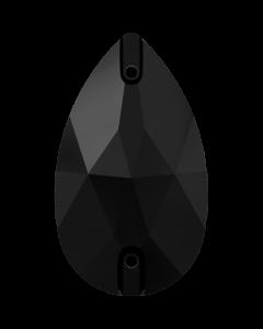 Swarovski 3230 Drop 12 x 7 mm, Jet