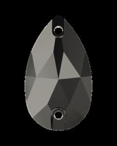 Swarovski 3230 Drop, Jet Hematite