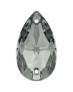 Swarovski 3230 Drop, Crystal Silver Night