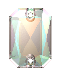 Swarovski 3252 Emerald Cut 14 x 10 mm, Crystal AB