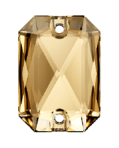 Swarovski 3252 Emerald Cut 14 x 10 mm, Crystal Golden Shadow