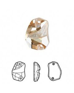 Swarovski 3257 Divine Rock 27 x 19 mm, Crystal Golden Shadow