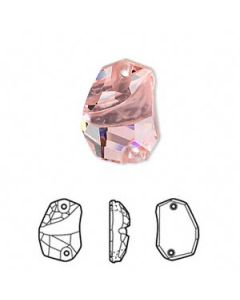 Swarovski 3257 Divine Rock 19 x 13 mm, Light Rose