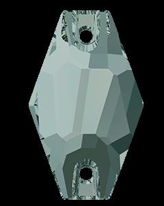 Swarovski 3261 Hexagon sew-on, Black Diamond, 18 mm.