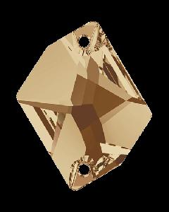 Swarovski 3265 Cosmic 20 x 16 mm, Crystal Golden Shadow