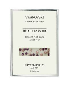 Swarovski Tiny Treasures - Rimmed FB Amethyst