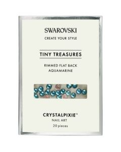 Swarovski Tiny Treasures - Rimmed FB Aquamarine