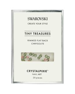 Swarovski Tiny Treasures - Rimmed FB Chrysolite