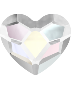 Swarovski 2808 Heart, Crystal AB, 3,6 mm, 10 stk.