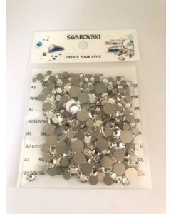 Stor Swarovski-mix, Crystal, 300 stk. (3-7 mm)