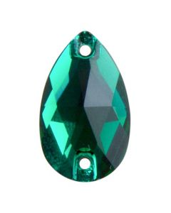 Preciosa Pearshape 18 x 10,5 mm, Emerald