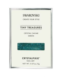 Swarovski Tiny Treasures - Crystal Caviar Green