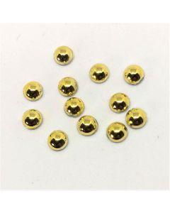Halvperler i blank guld, 6 mm