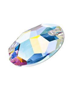 Preciosa Oval 601, Crystal AB