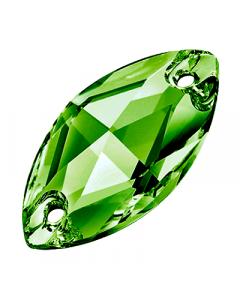 Preciosa Navette 18 x 9 mm, Emerald