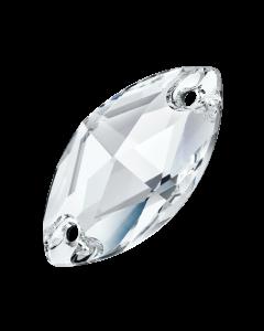Preciosa Navette 12 x 6 mm, Crystal